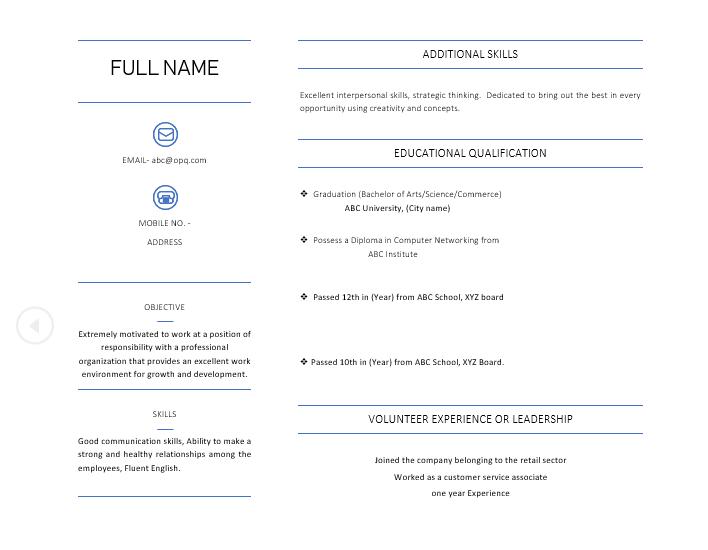 BA Graduate Resume Sample