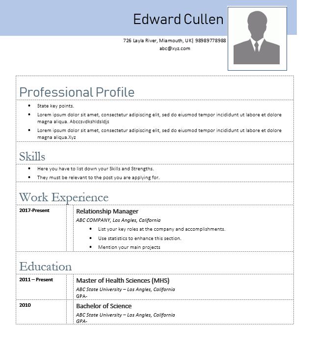 Creative Resume Sample