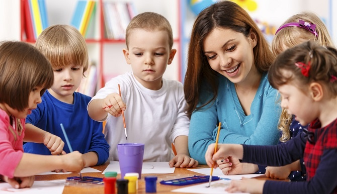 Students in Art Class With Teacher