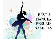 dancer resume writing