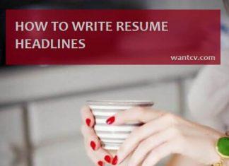 resume headline writing